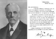 Portrait_et_lettre_de_Déclaration_de_Balfour
