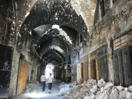 Souk Alep détruit